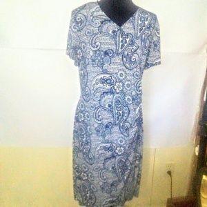 Glamour Paisley Print Wrap Dress Sz 16W